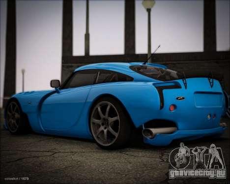 TVR Sagaris 2005 для GTA San Andreas вид сзади слева