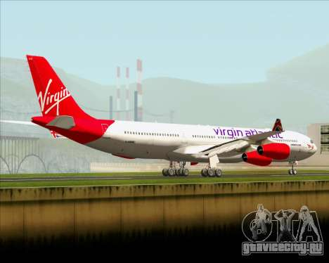 Airbus A340-313 Virgin Atlantic Airways для GTA San Andreas вид сзади слева