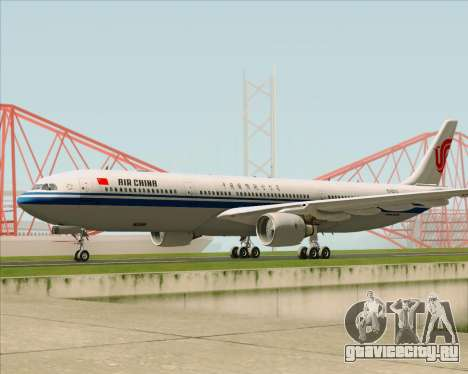 Airbus A330-300 Air China для GTA San Andreas вид слева