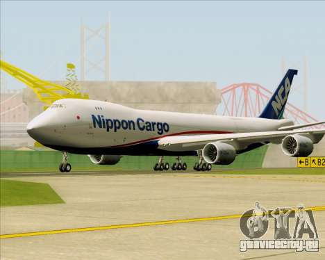 Boeing 747-8 Cargo Nippon Cargo Airlines для GTA San Andreas вид слева