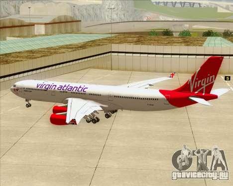 Airbus A340-313 Virgin Atlantic Airways для GTA San Andreas колёса