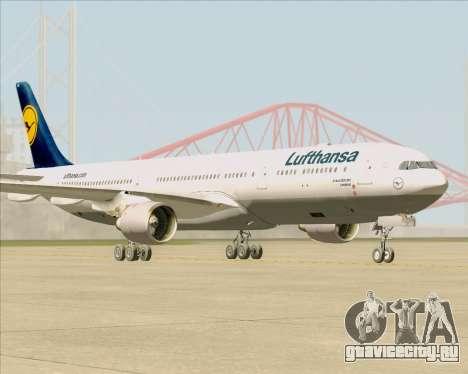 Airbus A330-300 Lufthansa для GTA San Andreas вид сзади слева