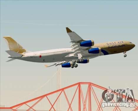 Airbus A340-313 Gulf Air для GTA San Andreas вид сбоку