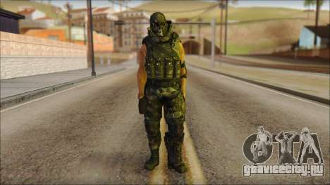 Claude Resurrection Skin from COD 5 v2 для GTA San Andreas