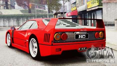 Ferrari F40 1987 для GTA 4 вид слева