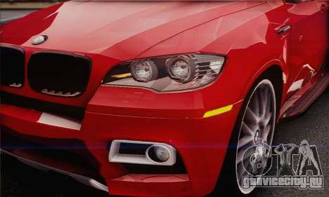 BMW X6M 2013 v3.0 для GTA San Andreas вид сзади