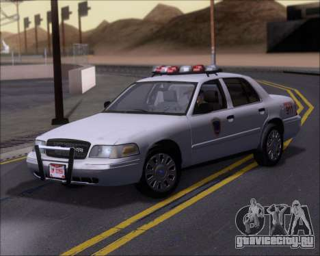 Ford Crown Victoria Tallmadge Battalion Chief 2 для GTA San Andreas вид слева