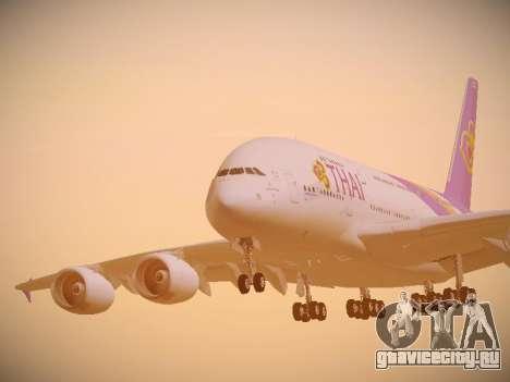 Airbus A380-800 Thai Airways International для GTA San Andreas вид сбоку