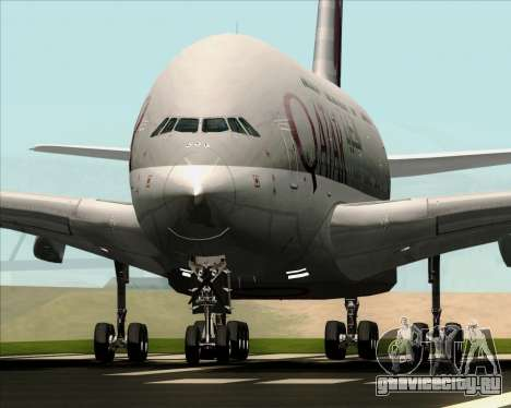 Airbus A380-861 Qatar Airways для GTA San Andreas вид сзади
