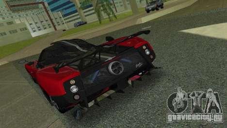 Pagani Zonda Cinque для GTA Vice City вид справа