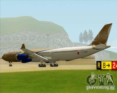Airbus A340-313 Gulf Air для GTA San Andreas вид справа