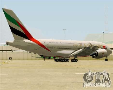 Airbus A380-841 Emirates для GTA San Andreas вид справа