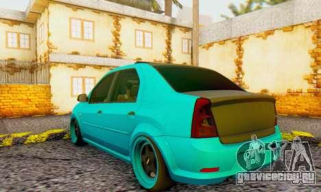 Dacia Logan Pearl Blue для GTA San Andreas вид справа