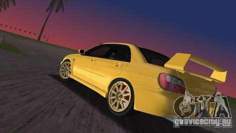 Subaru Impreza WRX 2002 Type 1 для GTA Vice City вид слева