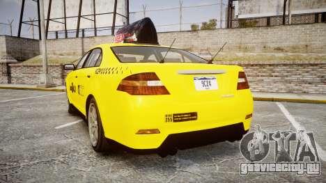 GTA V Vapid Taurus Taxi LCC для GTA 4 вид сзади слева