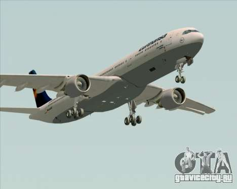 Airbus A330-300 Lufthansa для GTA San Andreas вид сбоку