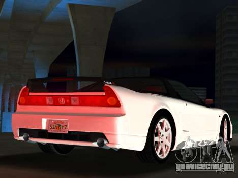 Honda NSX-R для GTA Vice City вид сзади