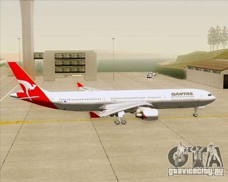 Airbus A330-300 Qantas для GTA San Andreas вид сзади