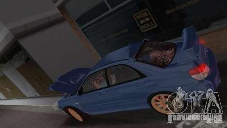 Subaru Impreza WRX STI 2006 Type 1 для GTA Vice City вид сверху