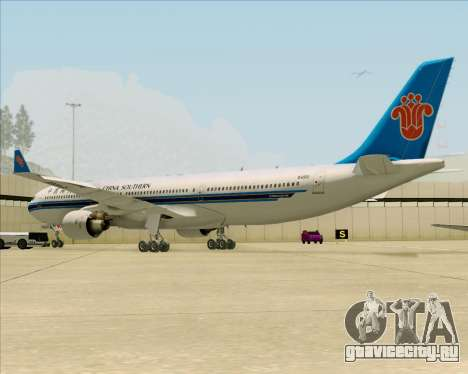 Airbus A330-300 China Southern Airlines для GTA San Andreas вид сзади