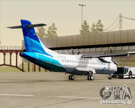 ATR 72-500 Garuda Indonesia Explore для GTA San Andreas вид сзади слева