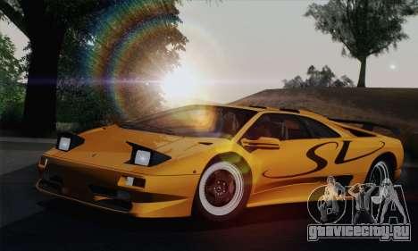 Lamborghini Diablo SV 1995 (HQLM) для GTA San Andreas вид изнутри