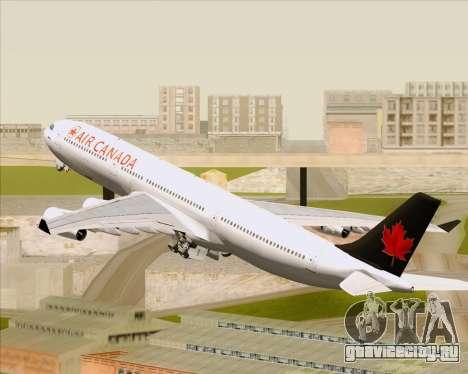 Airbus A340-313 Air Canada для GTA San Andreas колёса