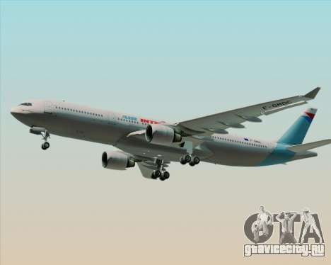 Airbus A330-300 Air Inter для GTA San Andreas вид изнутри