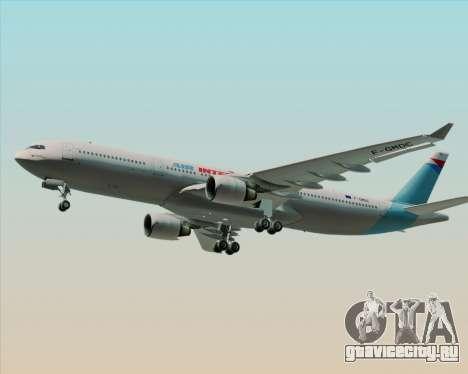 Airbus A330-300 Air Inter для GTA San Andreas вид изнутри