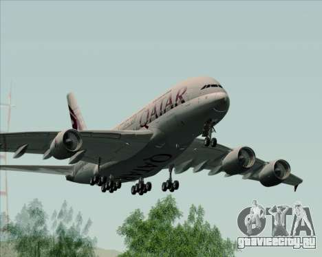 Airbus A380-861 Qatar Airways для GTA San Andreas вид справа