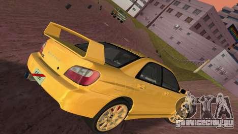 Subaru Impreza WRX 2002 Type 1 для GTA Vice City вид изнутри
