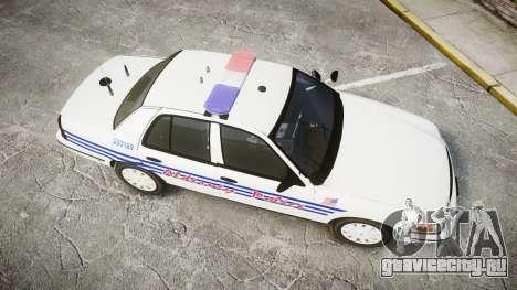 Ford Crown Victoria Alderney Police [ELS] для GTA 4 вид справа