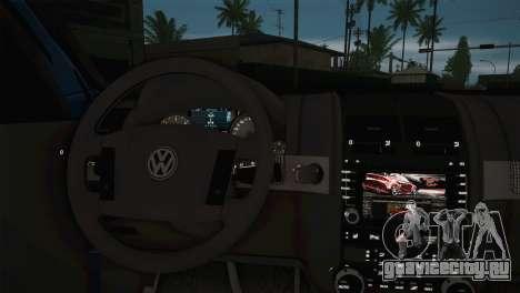 Volkswagen Touareg 2012 для GTA San Andreas вид сзади слева