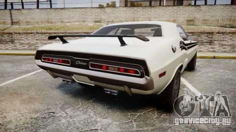 Dodge Challenger 1971 v2.2 PJ1 для GTA 4 вид сзади слева