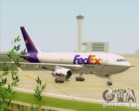Airbus A310-300 Federal Express для GTA San Andreas вид сзади