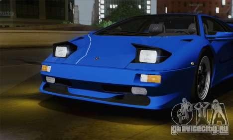 Lamborghini Diablo SV 1995 (ImVehFT) для GTA San Andreas вид изнутри