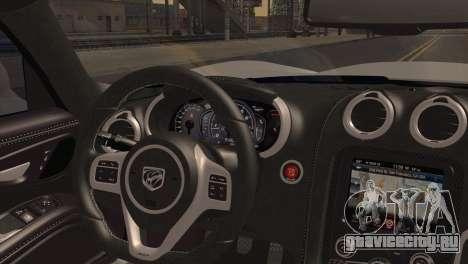 Dodge SRT Viper GTS 2012 для GTA San Andreas вид сзади слева
