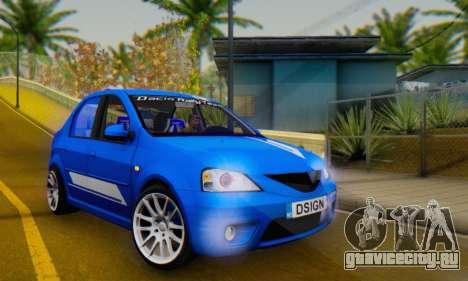 Dacia Logan Tuning Rally (B 48 CUP) для GTA San Andreas вид изнутри
