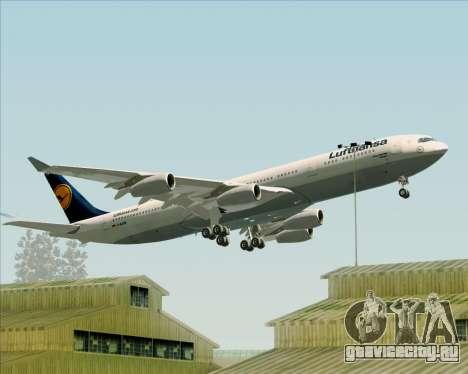 Airbus A340-313 Lufthansa для GTA San Andreas колёса