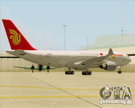 Airbus A330-200 Air China для GTA San Andreas вид сзади слева
