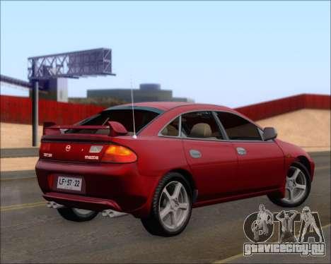 Mazda 323F 1995 для GTA San Andreas вид сзади слева