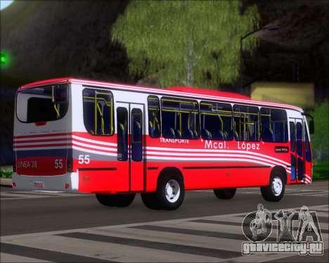 Neobus Spectrum Linea 38 Mcal. Lopez для GTA San Andreas вид справа