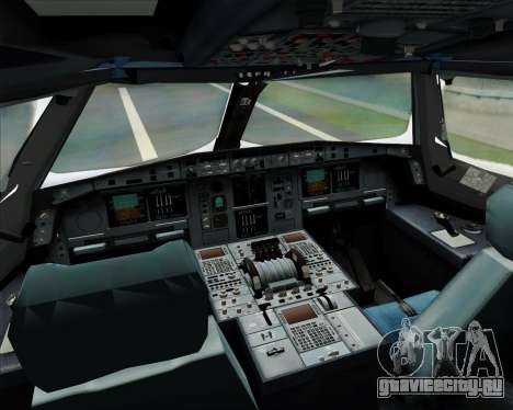 Airbus A380-841 Singapore Airlines для GTA San Andreas вид сверху