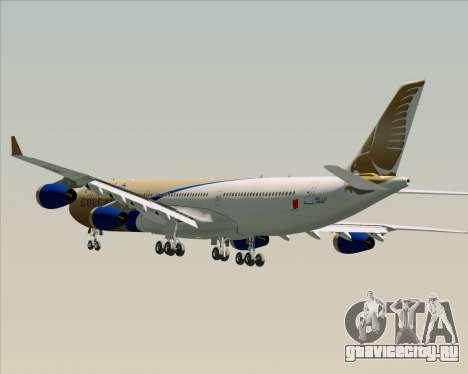 Airbus A340-313 Gulf Air для GTA San Andreas колёса