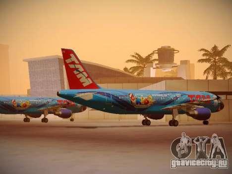 Airbus A320-214 TAM Airlines RIO для GTA San Andreas вид справа