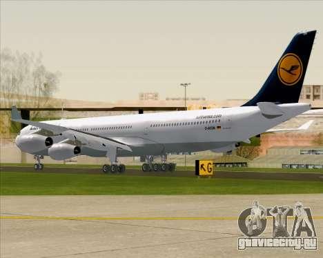 Airbus A340-313 Lufthansa для GTA San Andreas вид справа