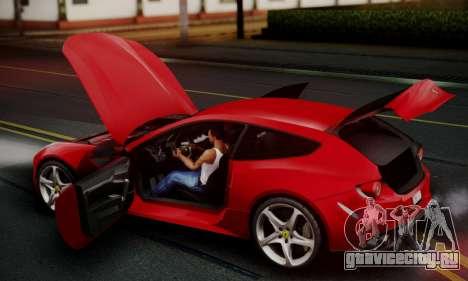 Ferrari FF 2012 для GTA San Andreas вид изнутри
