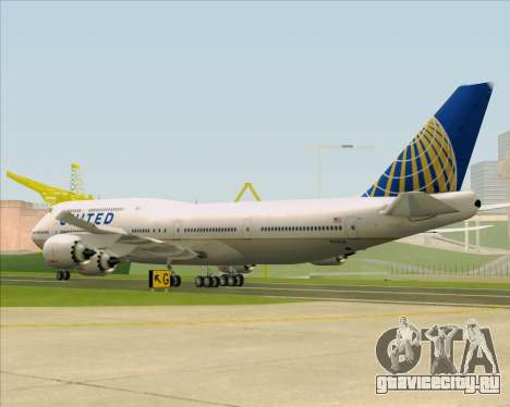 Boeing 747-8 Intercontinental United Airlines для GTA San Andreas вид справа