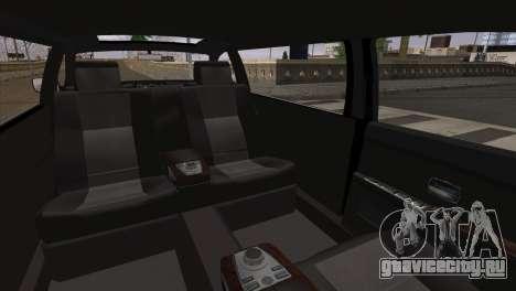 BMW E66 7-Series Limousine для GTA San Andreas вид сзади слева