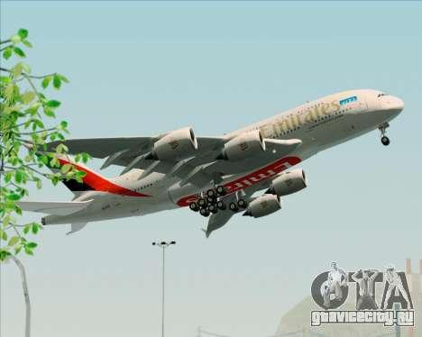 Airbus A380-841 Emirates для GTA San Andreas вид изнутри